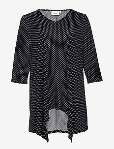 MLUCCA, 3/4, BLOUSE BOO - BLACK
