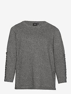 Metalic L/S Knit - swetry - grey