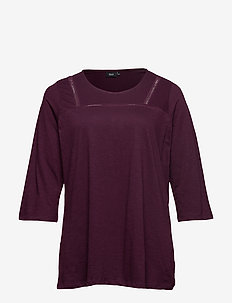 MHOLLY, 3/4, TOP - basic t-shirts - purple