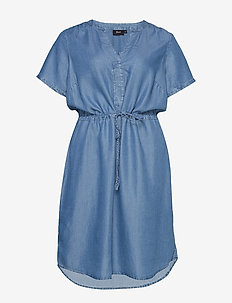 MNOVA, S/S, DRESS - LIGHT BLUE