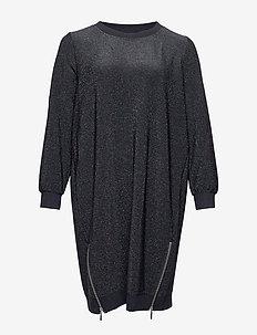NOELANI, L/S, DRESS - BLACK