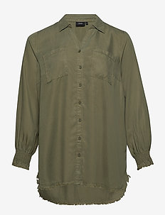 MNILLE L/S SMOCK SHIRT - GREEN