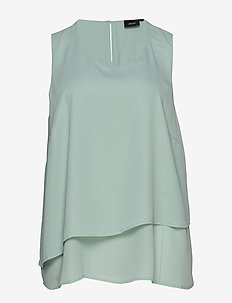 MINA, S/L, TOP - LIGHT BLUE