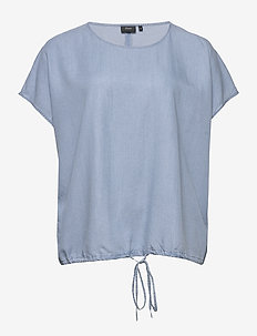 MISALLAS, S/L, TOP - basic t-shirts - light blue
