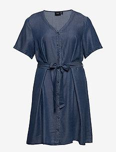 MISALLAS, S/S, DRESS - farkkumekot - blue