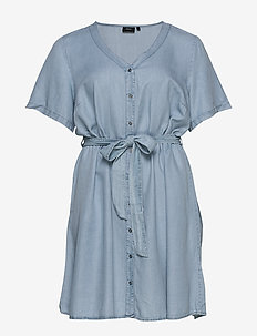 MISALLAS, S/S, DRESS - denimkjoler - light blue