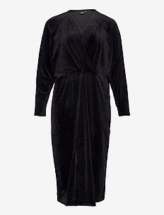 MGISELA, L/S, MIDI DRESS - midi dresses - black