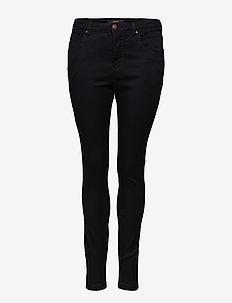 Jeans, long, AMY, super slim - BLACK