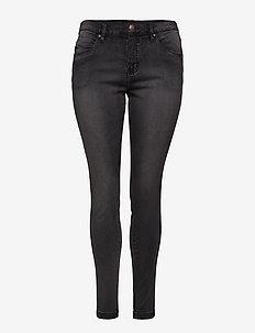 Jeans, long, AMY, super slim - DARK GREY
