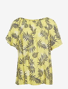 VVIGA, S/S, BLOUSE - YELLOW