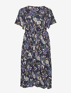VCIGGA, S/S, DRESS - midi kjoler - dark blue