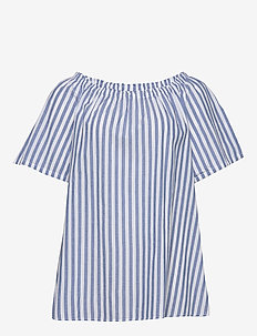 VAVA, S/S , BLOUSE - BLUE