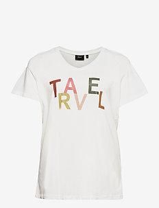 VFIERCE, S/S, V-NECK T-SHIRT - t-shirts - white