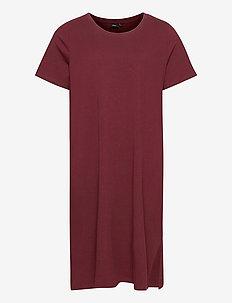 VALISE, S/S, BLK DRESS - midi dresses - bordeaux