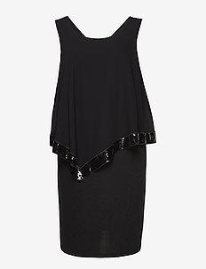XTIAN, KNEE , DRESS - BLACK