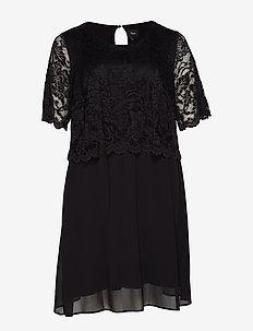 XDILIA, KNEE, DRESS BOO - BLACK