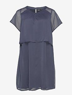 XVERRA, S/S, DRESS - krótkie sukienki - dark blue