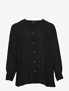 XISTA, L/S, SHIRT - pitkähihaiset puserot - black