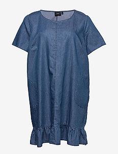 XTILLIO, S/S, KNEE DRESS - farkkumekot - blue
