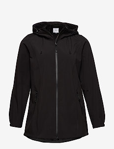 Softshell Jacket Water Repellent Soft and Warm - kevyet takit - black