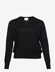 Cardigan, LS - BLACK