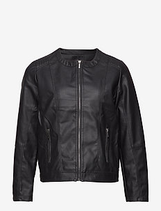 Imitated leather jacket - kurtki skórzane - black