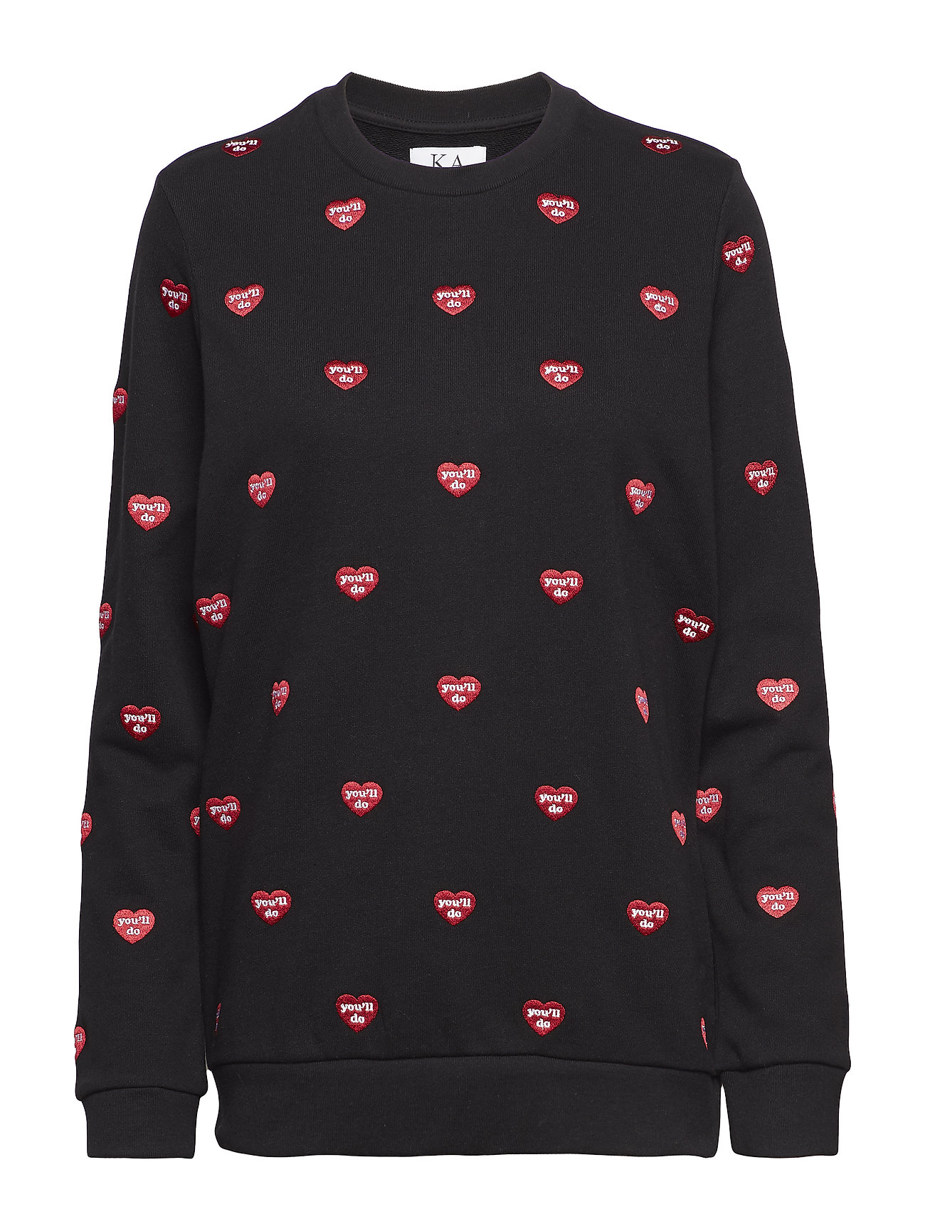 Zoe Karssen EMBROIDERED LOOSE FIT SWEAT - MOONLESS NIGHT