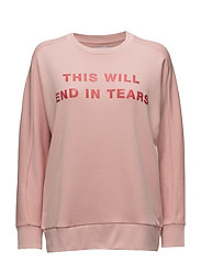 BOYFRIEND FIT SWEAT THIS WILL END IN TEARS - SILVER PINK