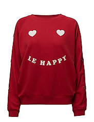 BALLOON FIT SWEAT LE HAPPY - SALSA