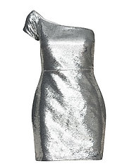 ASYMMETRIC ONE SHOULDER DRESS - SILVER