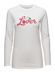 SLIM FIT LONG SLEEVE LOVER - OPTICAL WHITE