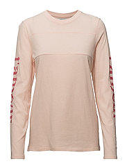 LOOSE FIT LONG SLEEVE L'AMOUR - PEACH WHIP