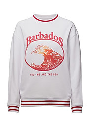BALLOON FIT SWEAT BARBADOS - OPTICAL WHITE