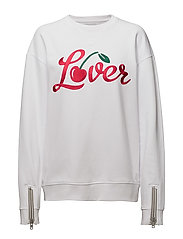 ZIPP CUFF BOYFRIEND FIT SWEAT LOVER - OPTICAL WHITE