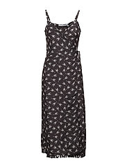 MIDI WRAP DRESS SCORPION ALL OVER - RAVEN
