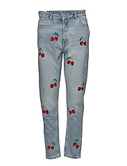 JANIS BOYFRIEND CHERRIES ALL OVER - LIGHT WASH