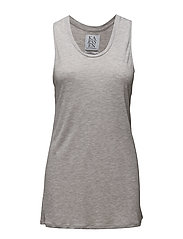 LOOSE FIT RACER BACK TANK - GREY HEATHER