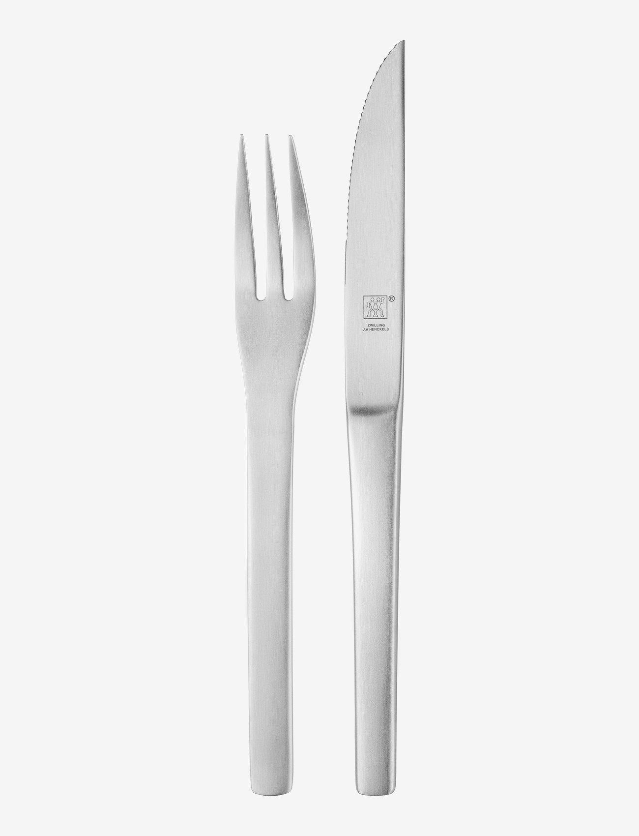Zwilling - Steak cutlery set - biffbestikk - silver - 0